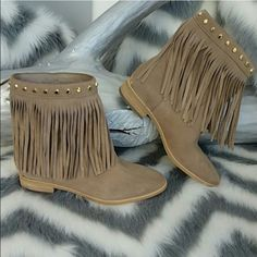 Michael kors fringe booties Nude fringe boots from Michael kors great condition, willing to negotiate price! MICHAEL Michael Kors Shoes Ankle Boots & Booties
