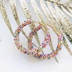 Zaraha confetti super Sparkly Earring – Lizzys Abode$7.95 Instock Confetti, Rainbow, Earrings, Jewelry, Ear Rings, Jewellery Making, Rainbows, Jewlery, Jewelery