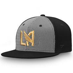 d8fe1534b71 Men s LAFC Fanatics Branded Gray Black Versalux Fitted Hat