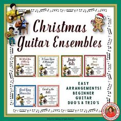 Teaching guitar!  Guitar Christmas Ensembles - SIX arrangements for middle  school students