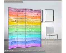 Rainbow Painting, Wood Planks, Painting On Wood, Rainbow Wood, Curtains, Painted Wood, Php, Prints, Blog