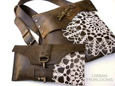 Boho Leather Messenger & Wallet by UrbanHeirlooms, via Flickr