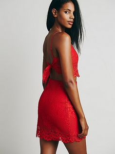 Cherry Red free people set