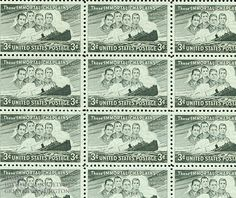 Chaplain Alexander Goode (far right on the stamp) and three Christian chaplains were memorialized on this 1948 three-cent stamp for their heroism during World War II.