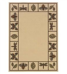dragonfly/insect indoor outdoor rug 7 x 10 to 10 x 10 at plow and hearth for 19.95 to 249.95
