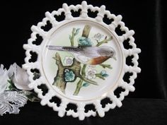 Norcrest Lace Edge Bird Plate @ Vintage Touch   SOLD