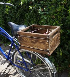 Wood Bicycle Crate by Diga Designs on Scoutmob