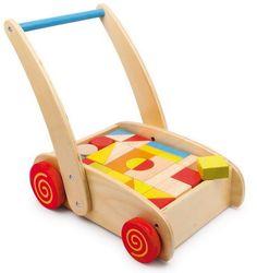andador para niños con construcciones de madera en El País de los Juguetes 39'95€
