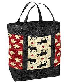 Miu Miu Women's Two-Tone Glossed Tote Black Quilted Purse Patterns, Easy Sewing Patterns, Tote Pattern, Quilts Canada, Fabric Canada, Canadian Quilts, Wildlife Quilts, Quilted Tote Bags, Quilted Gifts