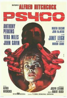 Wicked promo poster for Psycho by Hitchcock