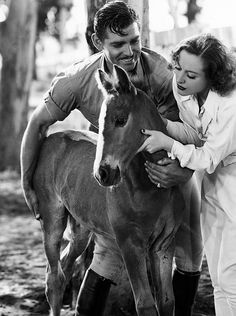 Clark Gable and Joan Crawford in a scene from Chained, 1934.
