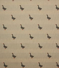 Great new curtain and upholstery fabric with a lovely embroidered goose design on a linen coloured background. Great for curtains and blinds in a country kitchen or why not use as an upholstery fabric for a statement chair? Buy online or visit one of our curtain fabric shops in Cheltenham, Gloucestershire or Burford, Oxfordshire.
