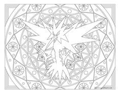 free printable pokemon coloring page zapdos coloring fun for all ages adults and children