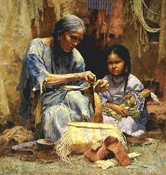 """The Teachings Of My Grandmother """"I am a Child"""" art. Howard Terpning"""