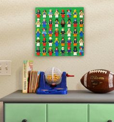 Quickly display your LEGO minifigures on the wall or a tabletop. From BRICK RACK.