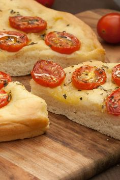 Schiacciata with Cherry Tomatoes - Crunchy yet moist Focaccia from Tuscany.