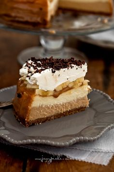 Banoffee cheesecake  with bananas and ground kaymak