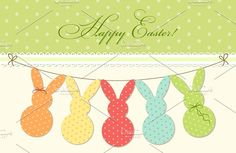 Easter bunting by All Cute Stuff on @creativemarket