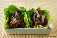 Cashew Chicken Lettuce Wraps :: Gluten-Free, Grain-Free, Dairy-Free // DeliciousObsessions.com