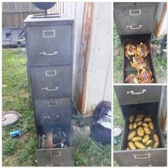 8 File Cabinet Smokers-Turn An Old File Cabinet Into A Meat Smoker . Smoker Cooking a meat smoker