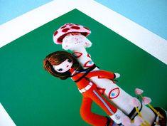 とにかくかわいい!キノコにイカ・タコのフェルトアート @ etsy.com/shop/hine