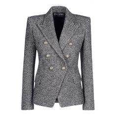 Boss Tweed ~ Harpers Bazaar #TheList Fall Looks - Balmain Blazer