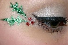 Christmas Makeup Look Melissa this would be perfect for the cheerleaders Christmas routine!