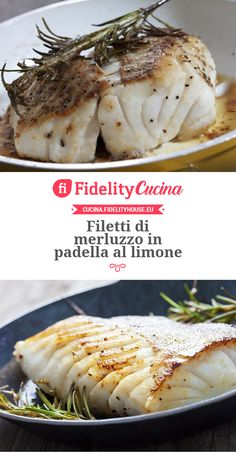 Pan-fried cod fillets with lemon - Pan-fried cod fillets with lemon The Effective Pictures We Offer You About zucchini recipes A qual - Meat Recipes, Seafood Recipes, Cooking Recipes, Healthy Recipes, Italian Food Restaurant, How To Cook Fish, Fish Dishes, Light Recipes, Fish And Seafood
