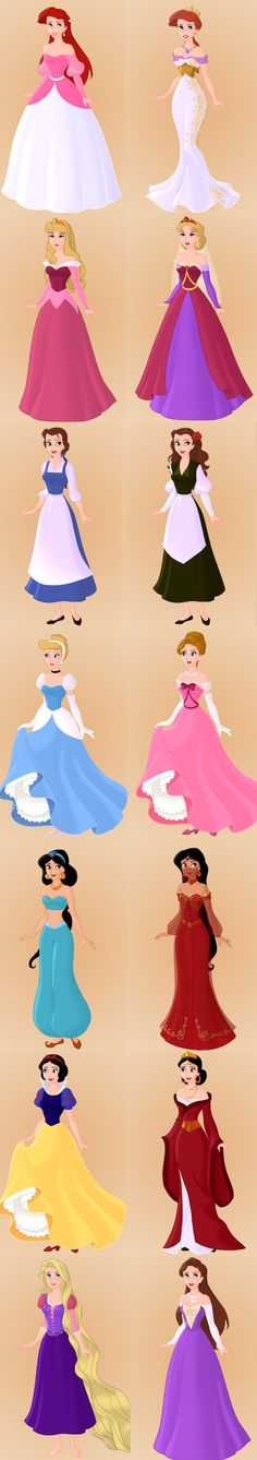 Disney Princesses And Their Moms. Can I just have the mothers' outfits please? Snow White's mom looks like her mom from Once Upon A Time