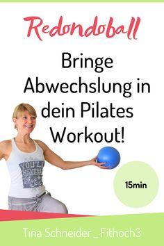 Effektiv und abwechslungsreich: Pilates Workout mit Redondo Ball. 15 Minuten total body workout warten auf Dich. Der vielseitige Redondo Ball unterstützt Dich dabei! Pilates trainiert Deine tiefliegenden Muskelschichten und schont dabei Bänder und Gelenke. Dank dem Redondo Ball kommt Abwechslung in Dein Workout. Also ran an den Ball und viel Spaß beim Mitmachen! Love doing sports… Deine Tina #redondoball #pilatesworkout Pilates Training, Pilates Workout, Fitness Workouts, Vídeos Youtube, Stress, Qigong, Yoga, Videos, Pilates For Beginners