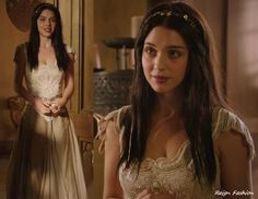 Perhaps the most talked about outfit from the pilot is Mary's embroidered corset and long flowy skirt from LA based brand Les Habitudes. Unfortunately, Les Habitudes designs aren't available online....