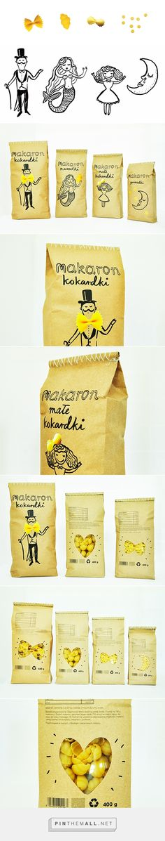 Marakon pasta package on Behance by Agata Kowalska curated by Packaging Diva PD. a pasta packaging smile to start your day : )