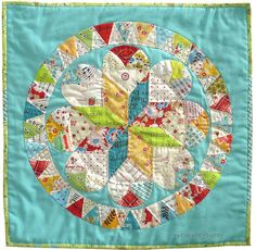 All sizes | Brit Quilt: Summer Medallion Quilt, via Flickr.