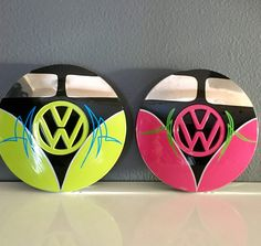 Vintage Volkswagen Split Window Bus Rabbit by VanePinstriping