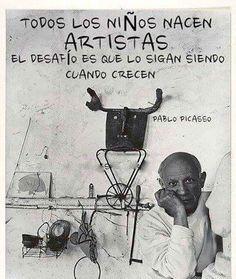 Hablar del arte y hacer arte es el desafio de crear. Vivir la vida, en verdad vivirla, nos pide traer todos los ingredientes de nuestro interior, despertarlos o despertarnos, para no olvidar que hemos sido artistas desde siempre.