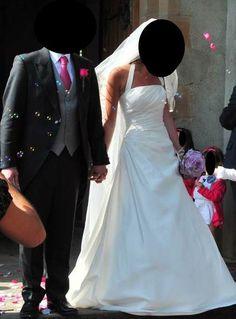 Sublime robe de mariée de créatrice en taffetas de soie