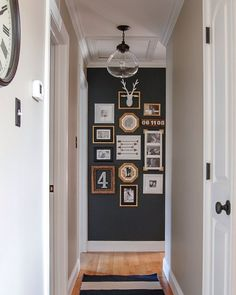 """Our hallway just got a bold update with my favorite @sherwinwilliams paint and a bunch of thrifted and Dollar Store frames!  Head over to the blog for all…"""