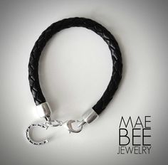 Here's one way to get lucky... Sterling Horseshoe on black braided Leather Bracelet from JewelryByMaeBee on #Etsy. www.jewelrybymaebee.etsy.com