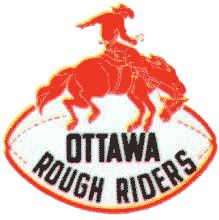 Ottawa Rough Riders Primary Logo on Chris Creamer's Sports Logos Page - SportsLogos. A virtual museum of sports logos, uniforms and historical items. Ottawa Valley, Canadian Football League, Grey Cup, Sports Team Logos, Rough Riders, Vintage Football, Nfl, Memories, Stanley Cup