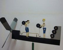 Pumping Iron Whirligig (You Pick the Colors!)