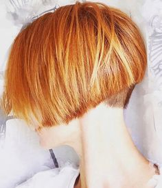 Short Bob Hairstyles, Cool Hairstyles, Short Hair Cuts, Short Hair Styles, Strawberry Blonde Hair Color, Pam Pam, Bed Hair, Cut My Hair, Hair Photo