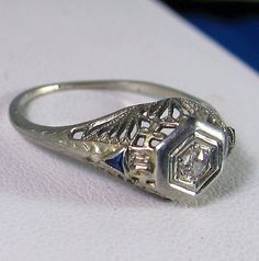 See our Vintage Jewelry collection at Benson Diamond Jewelers, Westland MI  I have a platnum and diamond ring that was my grandmothers that is cut like that...