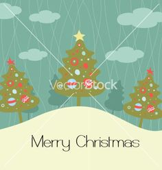 Merry christmas card vector - by ngocdai86 on VectorStock®