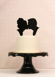 Hey, I found this really awesome Etsy listing at https://www.etsy.com/listing/168508483/custom-silhouette-wedding-cake-topper
