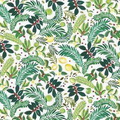 ohkiistudio A closer look at the wallpaper print for @originsusa  #surfacespatterns #watercolor #textileprintdesign #pattern #wallpaper #floraldesign #textiledesign #flower #design #fruit #summer