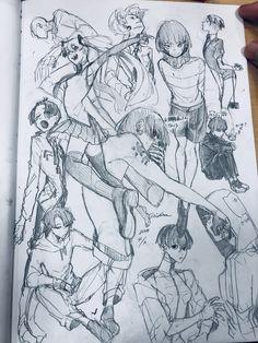 Twitter Character Sketches, Character Design References, Art Sketches, Character Art, Art Drawings, Manga Art, Manga Anime, Emotional Drawings, Manga Drawing Tutorials
