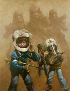 In a Backyard Far Far Away Series: Star Wars - Storm Troopers by Craig Davison *