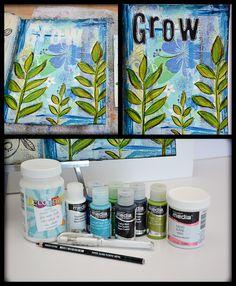Tracy Weinzapfel Studios | Grow Journal Page with Napkin Background #decoartprojects #decoartmedia #mixedmedia