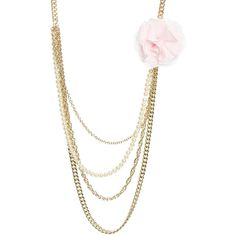 Chiffon Flower Swag Necklace ($9.50) ❤ liked on Polyvore