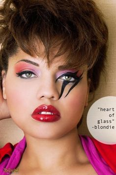 or Glam Rock Makeup - Bing Glam Rock Outfit, 80s Glam Rock, 1980s Makeup, Glam Makeup, Eye Makeup, Hair Makeup, Makeup Style, 80s Makeup Looks, Punk Rock Makeup